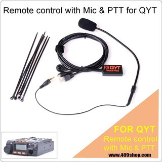 Picture of Remote control with Mic & PTT for QYT KT-8900 KT8900 Mini Mobile Radio Transceiver