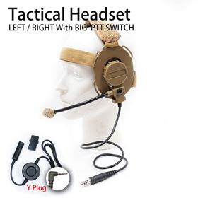 Picture of Y plug Tactical Headset with Big PTT Switch for Yaesu