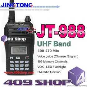 Picture of 2015 offer JINGTONG JT988 UHF 400-470MHz 199MEMORY CHANNEL