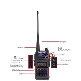 Picture of BAOFENG UV66 dual band 5W radio 136-174/400-520Mhz