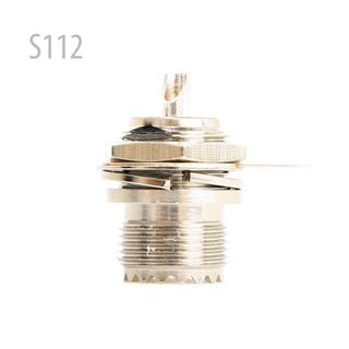 Picture of UHF SO239 nut bulkhead deck clip solder cup RF connector
