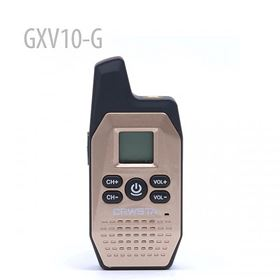 Mini Radio GXV10-G 16 Channel Walkie Talkie UHF Radio (Gold)