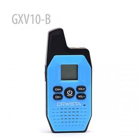Mini Radio GXV10-B 16 Channel Walkie Talkie UHF Radio (Blue)