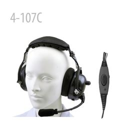 Carbon Fiber Pattern Heavy duty Noise Cancelling Headset