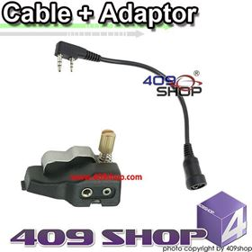 ADAPTOR with Mini Din Plug for Kenwood TK-380 TK-385 TK-390