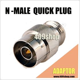 Slide-on Adapter N male plug to S169 N female jack  connector push-on QUICK