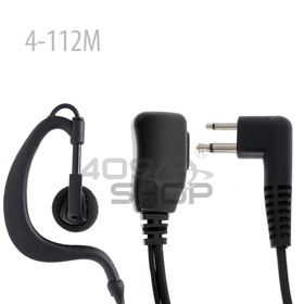 Picture of 2 Wire D-ring Earphone with PTT